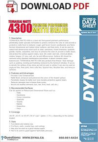 Dyna Terraseal Matte 4300 Sealer Color Enhancer